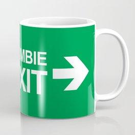 Zombie Exit Coffee Mug