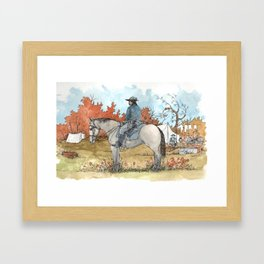 Civil War Cavalry Camp Framed Art Print