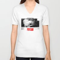 psycho V-neck T-shirts featuring PSYCHO by Lucas Preti