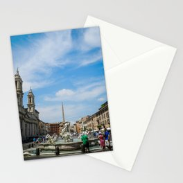 Piazza Navona in Roma Stationery Cards