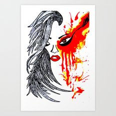 On Fire. Art Print