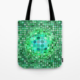 Optical Illusion Sphere - Green Tote Bag