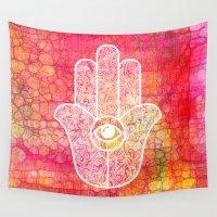 hamsa Wall Tapestries featuring Hamsa I by BySamantha | Samantha Ranlet