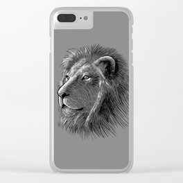 Skecth lion Clear iPhone Case