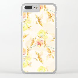 Delicate Floral Pattern 06 Clear iPhone Case