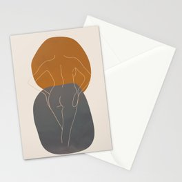 Line Female Figure 82 Stationery Cards