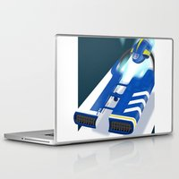 spaceship Laptop & iPad Skins featuring SpaceShip by LoweakGraph