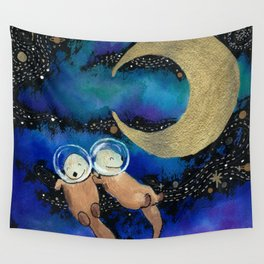 Otter Space Wall Tapestry