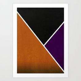Noir Series - Orange & Purple Art Print