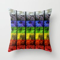 chakra Throw Pillows featuring chakra flowers by coreylynntucker