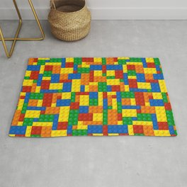 Colored Building Blocks Rug