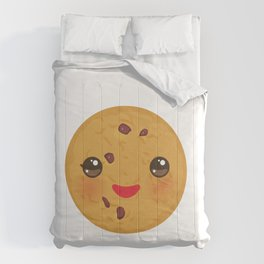 Kawaii Chocolate chip cookie Comforters