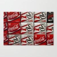 coke Canvas Prints featuring Coke by Elizabeth Nowicki
