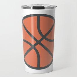 Basketball Icon Travel Mug
