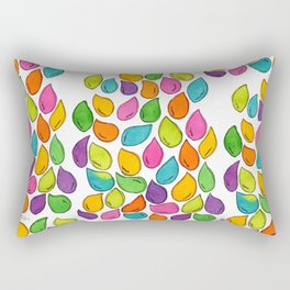 We Were Just Babies When We Were Born colorful pattern peaceful illustration ink painting abstract Rectangular Pillow