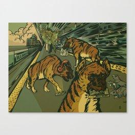 The AM Commute Canvas Print