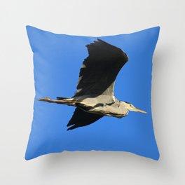 Handsome Heron Throw Pillow