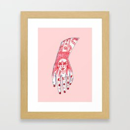 Cut Here Framed Art Print