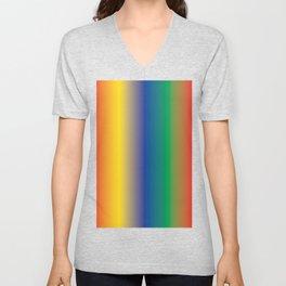 Colourful Rainbow Shades Follow the Rainbow Unisex V-Neck