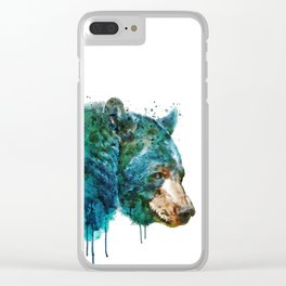 Bear Head Clear iPhone Case