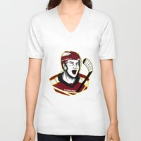 picard V-neck T-shirts featuring Alexandre Picard by Kana Aiysoublood