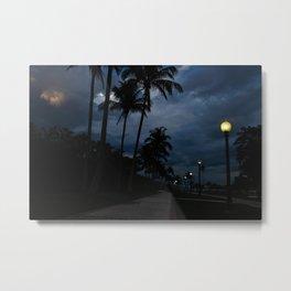 Street Lights and Palm Trees Metal Print