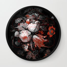 sacred flowers Wall Clock