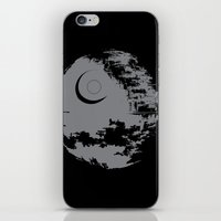 death star iPhone & iPod Skins featuring Death Star by Krakenspirit