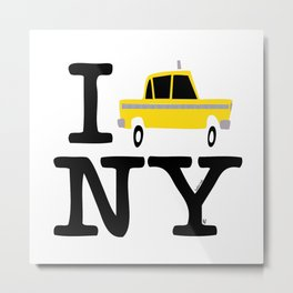 New York Yellow Cab logo Metal Print