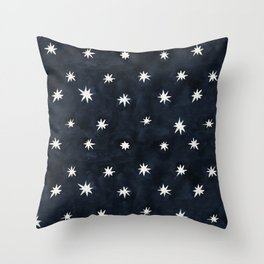 Midnight Starlet Throw Pillow