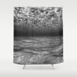 Under the Sea (Black and White) Shower Curtain