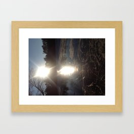 Ice In Framed Art Print