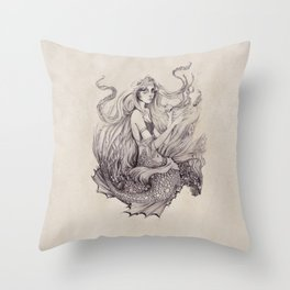 On The Seafloor Throw Pillow