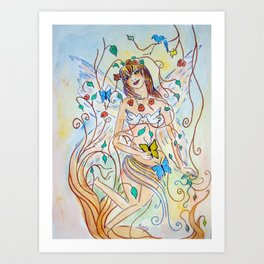 Wings of Enchanment Art Print