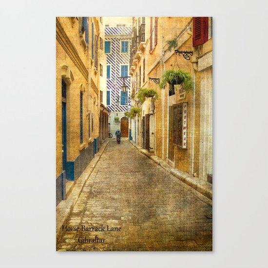 Horse Barrack Lane, Gibraltar Canvas Print