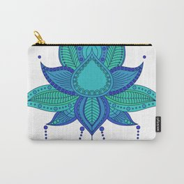 Ethnic flower lotus mandala ornament Carry-All Pouch