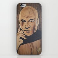 picard iPhone & iPod Skins featuring Jean-Luc Picard (Patrick Stewart)  by Andulino