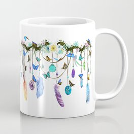 Folkestone Feather, Crystal And Butterfly Spirit Gazer Coffee Mug