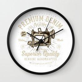 Vintage Classic Premium Denim Cut & Sew Wall Clock