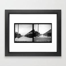Snow x 2 Framed Art Print