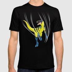 Wolveraptor - Superhero Dinosaurs Series Black LARGE Mens Fitted Tee