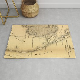 Vintage Map of The Outer Banks (1862) Rug