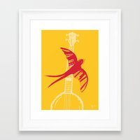 swallow Framed Art Prints featuring Swallow by Cai Sepulis