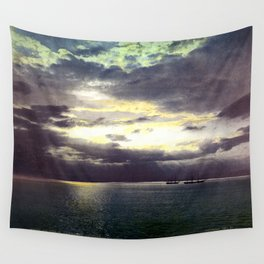 Vintage Sunset Waters : St Lawrence River 1901 Wall Tapestry
