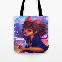 kiki Tote Bags featuring Kiki by RSArts