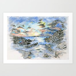 Beach landscape Art Print