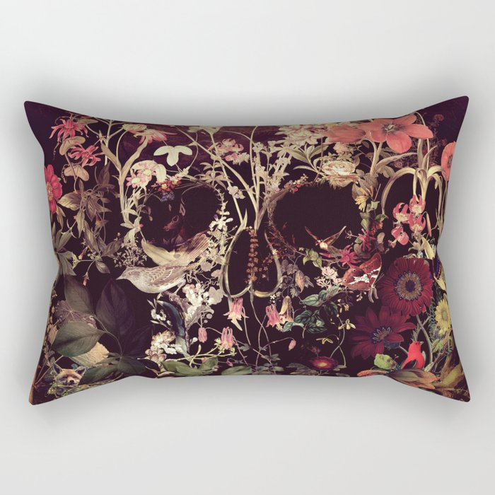 Bloom Skull Rectangular Pillow