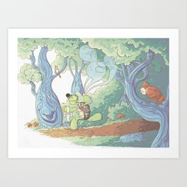 A Walk in the Woods Art Print