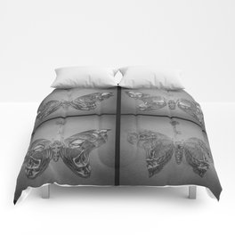 Faces Butterfly Comforters