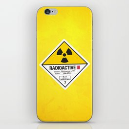Radioactive sign Back to the future iPhone Skin